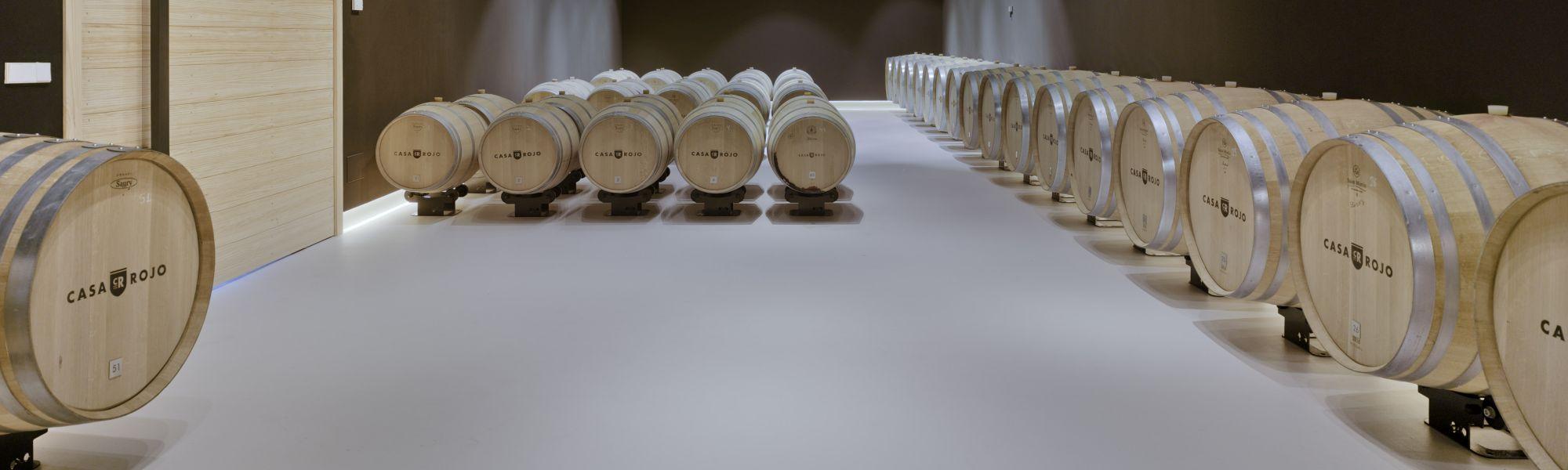 Weingut Casa Rojo Spanien Lager Fässer