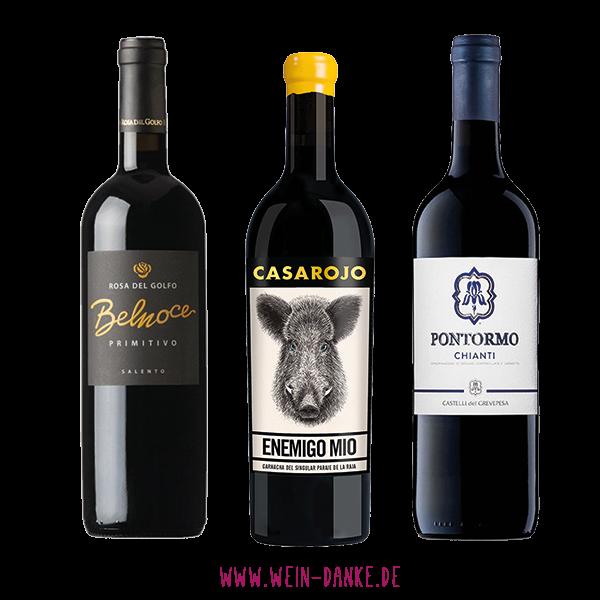 Wein-Danke, Weinpaket, Probierpaket, Rotwein